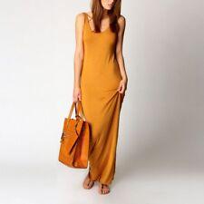 US Sexy Women's Bandage Bodycon Sleeveless Summer Casual Cotton Long Maxi Dress