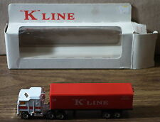 DTE MATCHBOX CONVOY TT TRUCK CY-8 WHITE/RED K-LINE KENWORTH NIOB