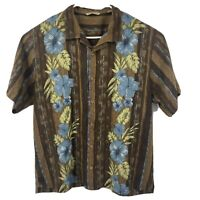 Tommy Bahama Mens Hawaiian 100% Silk Casual Camp Shirt Floral Sz XL