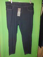 1279) NWT TORRID 2 Reg elastic waist skinny leg stretch legging jeans blue new 2