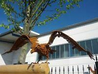 Edelrost Garten Adler Garten Vogel Garten Figuren Gartendeko Metall Tier Rost