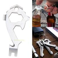 20 in 1 EDC Outdoor Survival Kit Wrench Opener Screwdriver Keychain Hanging Tool