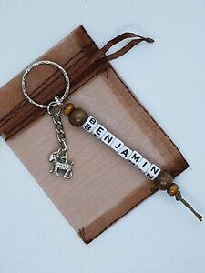 Personalised goat Keyring, goat bag name tag, goat gift, farm animal gift