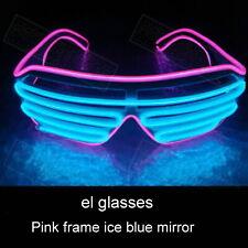 El Glow очки светодиодный свет вверх вечеринка провод солнцезащитные очки бар ночной клуб рейв
