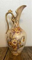 "Antique Royal Bonn Porcelain Ewer Pitcher - Franz Anton Mehlem, Germany -12"""