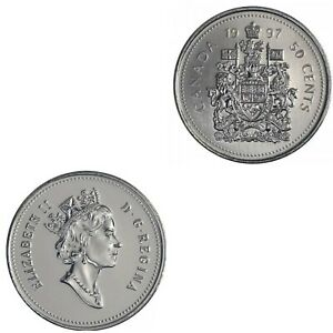 °•°LAST ONE°•° Canada 1997 50 Cent Piece From Mint Roll