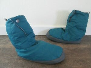 REI Blue Down Bootie Slippers Women's medium