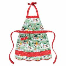 Santa Mickey Minnie Mouse & And Friends Happy Holiday Xmas Kitchen Apron Disney
