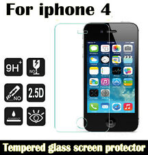 100% Genuine Tempered Glass LCD Screen Protector Film For Apple iPhone 4 Model