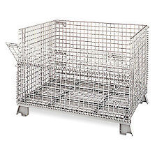 Nashville Wire Collapsible Container 32 in L Silver C324028S4