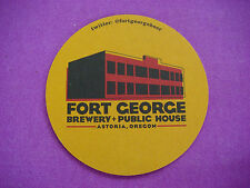 Beer Coaster Pub Mat ~**~ FORT GEORGE Brewery & Public House ~*~ Astoria, OREGON