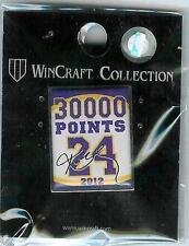 NBA Los Angeles Lakers Kobe Bryant #24 30000 Points Pin 2012 NIP