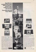 1965 RCA Victor PRINT AD Reel to Reel Tape Player Recorder  Rocket Violin