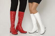 Fancy Dress Party GO GO Boots - 60s & 70s Party Boots - Sizes 3 - 11 UK