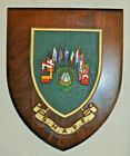 Large SHAPE regimental mess plaque shield crest NATO cold war