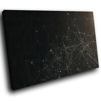 ZAB199 Black White Geometric Modern Canvas Abstract Wall Art Picture Prints