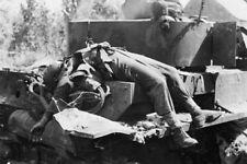 "Knocked out German Panzer Tank KIA 4""x 6"" World War II Photo Picture 71"