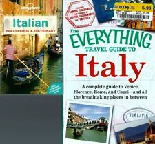 Lot 2 Italy Travel Books! Everything Guide & Lonely Planet Phrasebook Dictionary