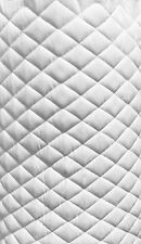 """Suede Quilted White Auto Headliner Headboard Fabric 3/8"""" Foam Back fabric yard"""