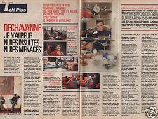 Coupure de presse Clipping 1988 Christophe Dechavanne  (2 pages)