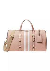 Michael Kors Bedford Travel Large Weekender Duffle Bag Ballet Pink Multi NEW