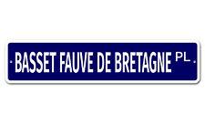 "5229 SS Basset Fauve De Bretagne 4"" x 18"" Novelty Street Sign Aluminum"