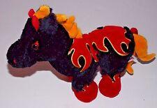 Ganz Webkinz Night Mare Horse Flames Fire Plush Stuffed Animal