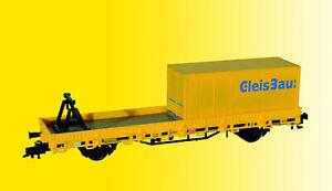 Kibri 26264 Schutzwagen mit Auflage für MFS 100 und Container GleisBau, Fertigm.