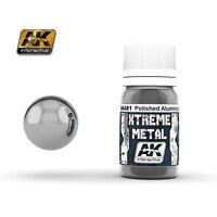 AK INTERACTIVE XTREME METAL POLISHED ALUMINIUM 30 ml. Cod.AK481