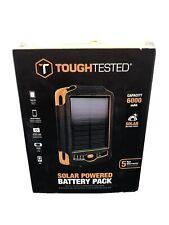 TOUGHTESTED SOLAR POWERED BATTERY PACK TT-SOLAR 6000mAh DUAL USB NEW
