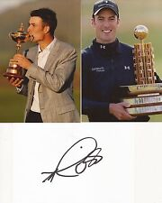 GOLF: ROSS FISHER SIGNED 6x4 WHITECARD+2 UNSIGNED PHOTOS+COA *RYDER CUP*