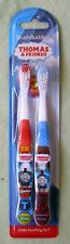 THOMAS THE TRAIN 2pk BRUSH BUDDIES TOOTHBRUSHES - RED & BLUE -NIP -  ONLY ONES!