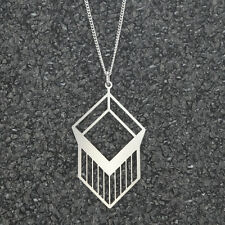 Geometric Necklace, womens stainless steel jewelry, simple jewelry