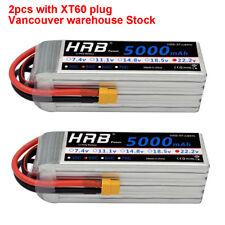 2pcs HRB LiPo Battery 22.2V 6S 5000mAh 50C 100C for RC yak 54 Trex 700 XT60 Car