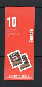 Canada 1992 10 x 43c Flag 1359a P 13.5 x 13 Booklet BK153b
