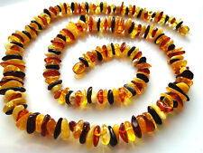 baltic amber necklace multicolor natural genuine 23 inch. 58cm