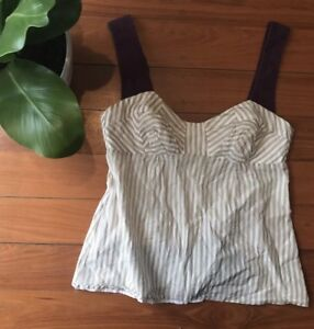 ❤️❤️ Women's VERONIKA MAINE Size 6 Stripe Top ❤️❤️