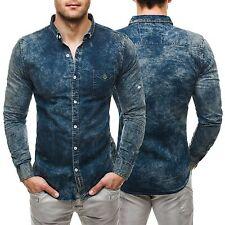 Figurbetonte Herren-Freizeithemden & -Shirts mit Krempelärmeln aus Baumwolle