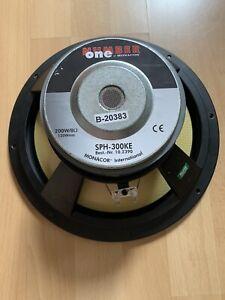 Monacor SPH 300KE Highend Tieftöner 200w , 8 Ω