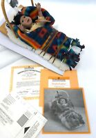 Vintage Ashton Drake Native American Bright Feather Papoose Doll Mint in Box