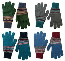 Men's Lambswool Fairisle Lochinver Gloves - Made in Scotland - Various Colours