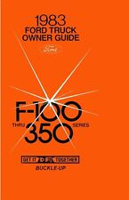 1983 Ford F-100 To F-350 Truck Owners Manual User Guide Operator Book Fuses
