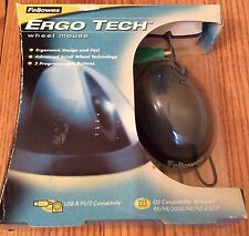 Fellowes Ergo Tech PC Computer Mouse Ergonomic Shape Scroll Wheel