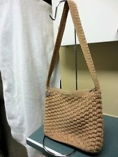 SAK all cloth handbag medium geige crochet exterior/Lining cloth zip/close