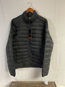 Mens Zeroxposur Full Zip Quilted Puffer Jacket Size Large New With Tags Black