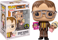 Dwight Schrute with Princess Unicorn Funko Pop Vinyl New in Box + Protector