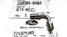 (QTY 300) GATES 4C14-4MIX90, G40504-0404 SAE Male Inverted Swivel  90° Bent Tube