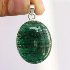 "Green Aventurine Pendant 925 Sterling Silver Jewelry 1.77"" J-20"
