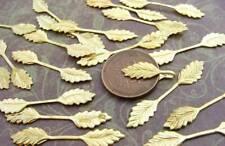 Vintage Brass Fold Over Double Leaf Bails Findings 20