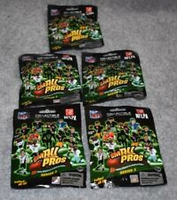 5 PACKAGES NFL FOOTBALL SMALL PROS SERIES THREE FIGURES